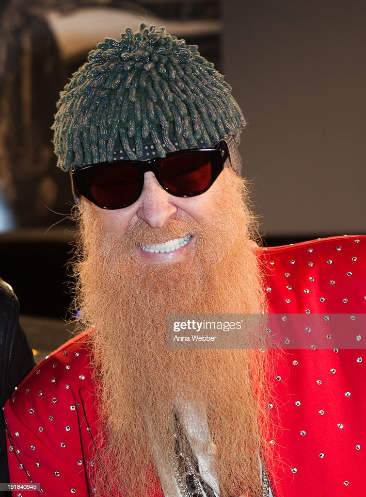 Singer/Guitarist <a gi-track='captionPersonalityLinkClicked' href=/galleries/search?phrase=Billy+Gibbons&family=editorial&specificpeople=242873 ng-click='$event.stopPropagation()'>Billy Gibbons</a> of ZZ Top attends GQ, Chrysler, And John Varvatos Celebrate The Launch Of The 2013 Chrysler 300C on September 11, 2012 in New York City.