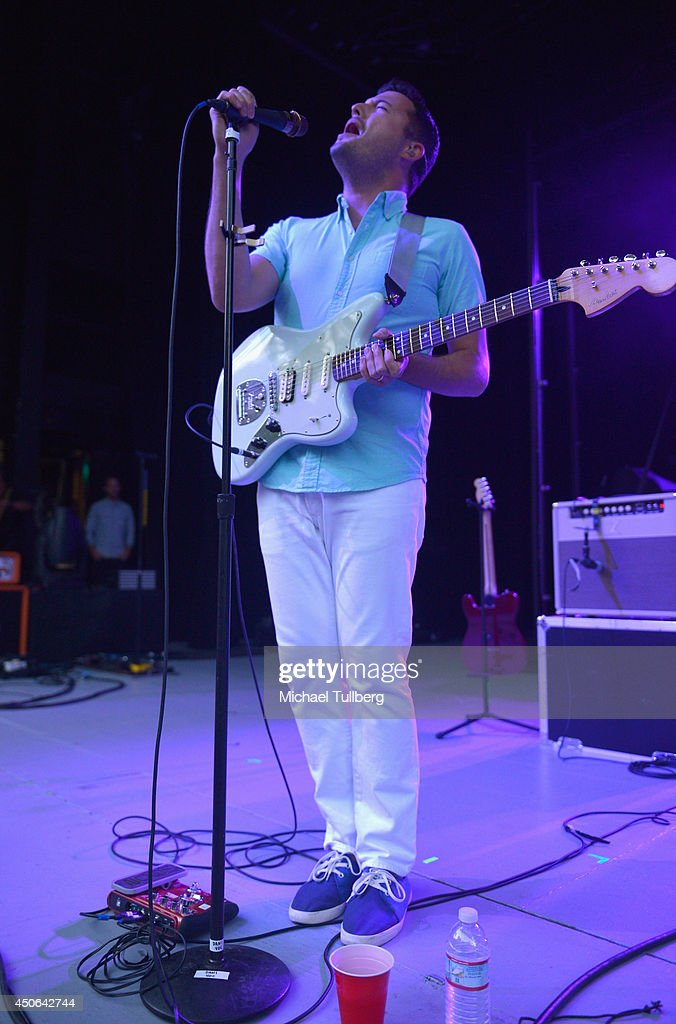 Singer/guitarist Brian Fennell of the music group Barcelona at The Greek Theatre on June 14, 2014 in Los Angeles, California.