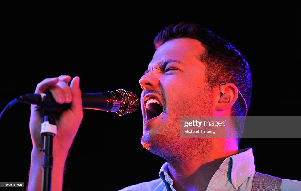 Singer/guitarist Brian Fennell of the music group Barcelona performs at The Greek Theatre on June 14, 2014 in Los Angeles, California.