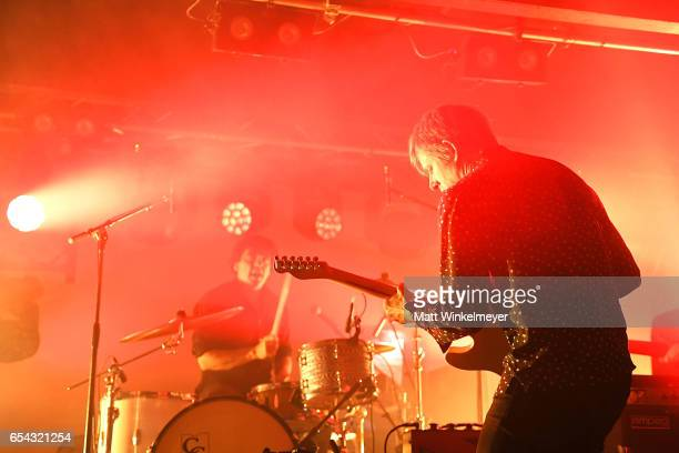 Singer/guitarist Britt Daniel and drummer Jim Eno of Spoon perform during the Spoon SXSW Residency 2017 SXSW Conference and Festivals on March 16...