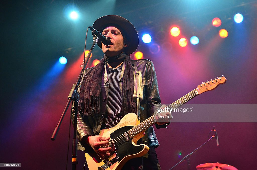 Singer/Guitarist <a gi-track='captionPersonalityLinkClicked' href=/galleries/search?phrase=Jakob+Dylan&family=editorial&specificpeople=211180 ng-click='$event.stopPropagation()'>Jakob Dylan</a> performs with The Wallflowers at Sands Event Center on December 27, 2012 in Bethlehem, Pennsylvania.