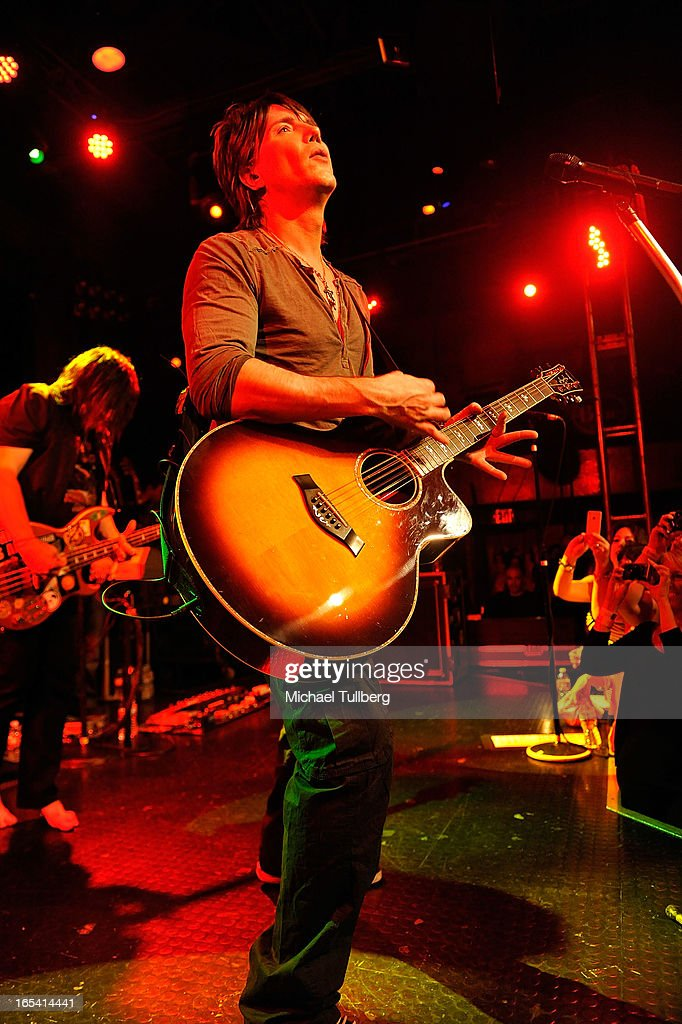 Singer/guitarist John Rzeznik of the Goo Goo Dolls performs live at Troubadour on April 3, 2013 in West Hollywood, California.