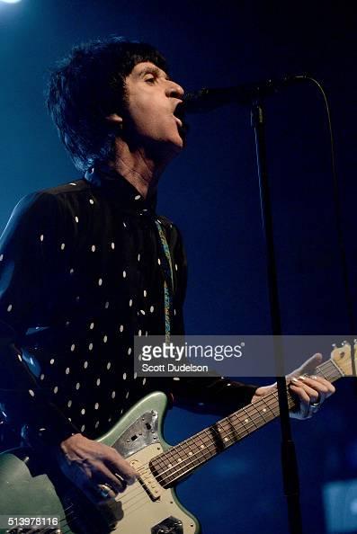 Singer/guitarist Johnny Marr performs onstage at El Rey Theatre on March 5 2016 in Los Angeles California