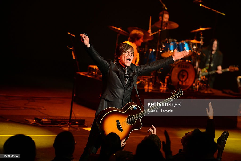 Singer/guitarist Johnny Rzeznik of the Goo Goo Dolls performs onstage at The Creative Coalition's 2013 Inaugural Ball at the Harman Center for the Arts on January 21, 2013 in Washington, United States.