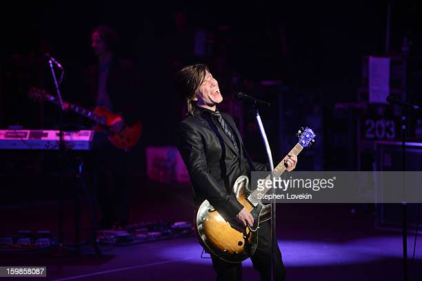 Singer/guitarist Johnny Rzeznik of the Goo Goo Dolls performs onstage at The Creative Coalition's 2013 Inaugural Ball at the Harman Center for the...