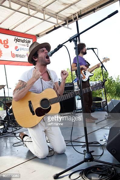 Singer/guitarist Langhorne Slim performs at AvidXChange Music Factory on September 10 2016 in Charlotte North Carolina