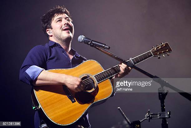 Singer/guitarist Marcus Mumford of Mumford Sons performs at Time Warner Cable Arena on April 14 2016 in Charlotte North Carolina