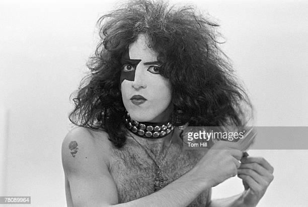 Paul Stanley of Kiss getting ready to perform at Alex Cooley's Electric Ballroom