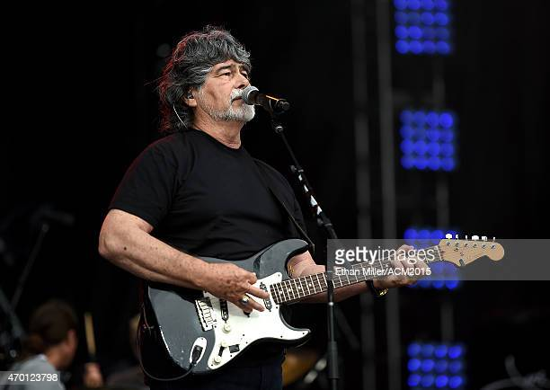 Singer/guitarist Randy Owen of Alabama rehearses onstage during ACM Presents Superstar Duets at Globe Life Park in Arlington on April 17 2015 in...