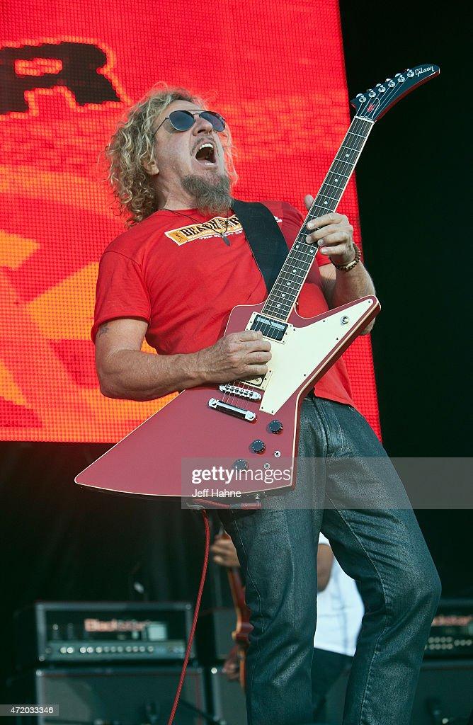 Singer/guitarist Sammy Hagar of Sammy Hagar The Circle performs during day 1 of the Carolina Rebellion at Charlotte Motor Speedway on May 2 2015 in...