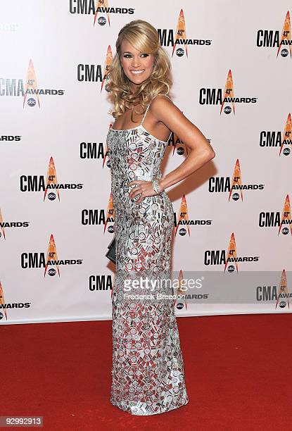 Singer/host Carrie Underwood attends the 43rd Annual CMA Awards at the Sommet Center on November 11 2009 in Nashville Tennessee