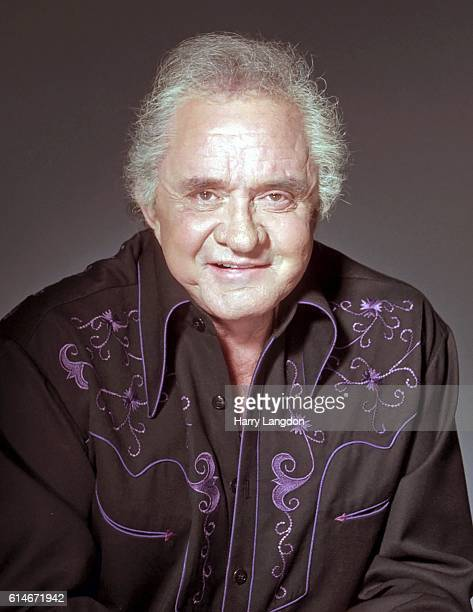 SingerJohnny Cash poses for a portrait in 2001 in Los Angeles California
