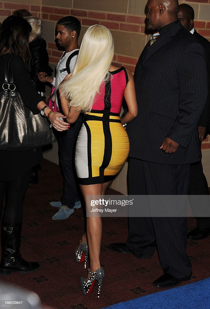 Singer/judge Nicki Minaj attends the FOX's 'American Idol' Season 12 Premiere at Royce Hall on the UCLA Campus on January 9, 2013 in Westwood, California.