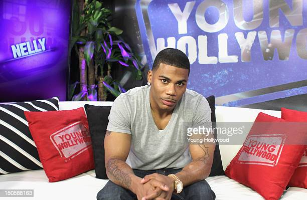 Singer/mentor Nelly visits the Young Hollywood Studio on August 22 2012 in Los Angeles California