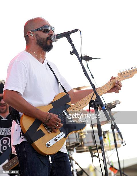 Singer/musician Al Pereira of the band Ozomatli performs at Dick's Sporting Goods Park on August 15 2010 in Commerce City Colorado