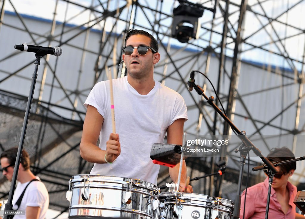 Singer/musician Alex Frankel of Holy Ghost performs at Williamsburg Park on July 24, 2013 in Brooklyn, New York.