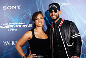 Singer/musician Alicia Keys and musician Swizz Beatz attend 'The Amazing SpiderMan 2' premiere at the Ziegfeld Theater on April 24 2014 in New York...