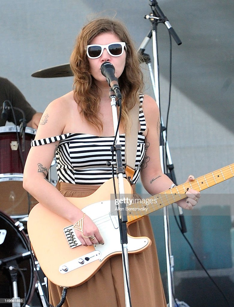 Huntington beach california stock photos and pictures getty images - Singer Musician Bethany Cosentino Of Best Coast Performs At 2012 Nike U S Open Of Surfing