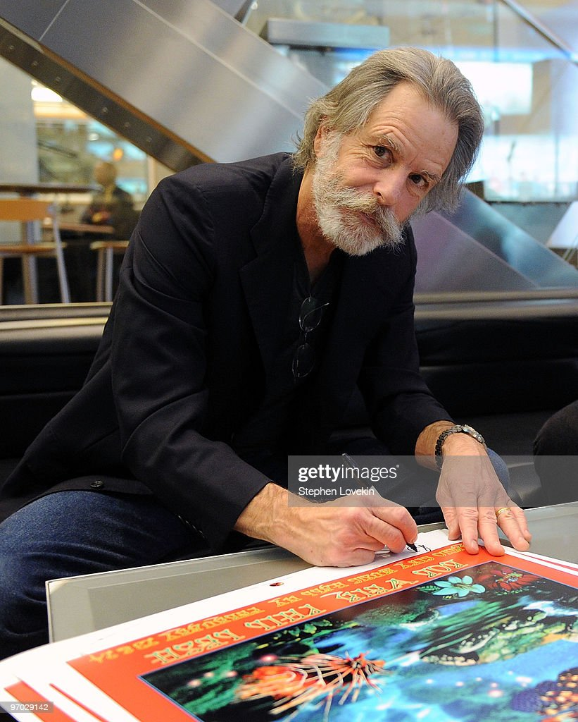Singer/musician Bob Weir receives a plaque for his support of The T.J. Martell Foundation at SIRIUS XM Studio on February 24, 2010 in New York City.