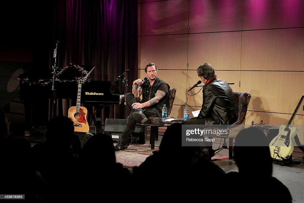 Singer/musician Butch Walker speaks with Vice President of the GRAMMY Foundation Scott Goldman at An Evening With Butch Walker at The GRAMMY Museum on December 4, 2013 in Los Angeles, California.