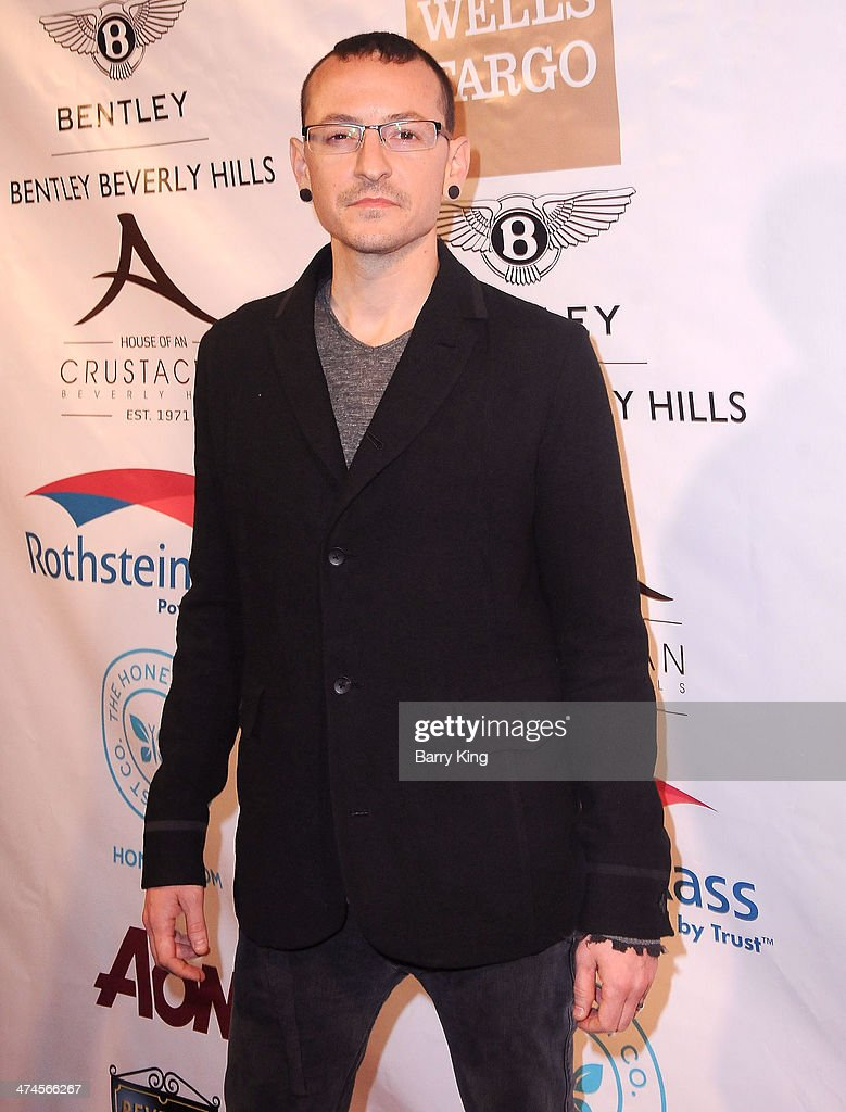 Singer/musician <a gi-track='captionPersonalityLinkClicked' href=/galleries/search?phrase=Chester+Bennington&family=editorial&specificpeople=213970 ng-click='$event.stopPropagation()'>Chester Bennington</a> of Linkin Park attends the Beverly Hills Camber of Commerce hosting