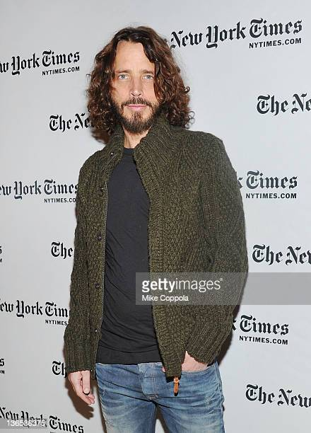 Singer/musician Chris Cornell attends the New York Times TimesTalk during the 2012 NY Times Arts Leisure weekend>> at The Times Center on January 7...