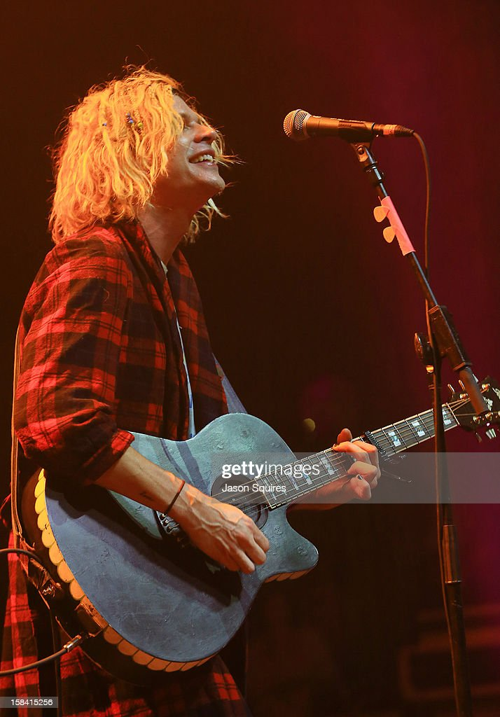 Singer/musician Christian Zucconi of Grouplove performs during The Night The Buzz Stole Christmas at The Midland by AMC on December 15, 2012 in Kansas City, Missouri.