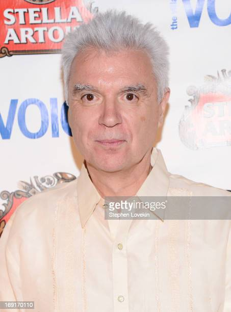 Singer/musician David Byrne attends The 2013 Obie Awards at Webster Hall on May 20 2013 in New York City