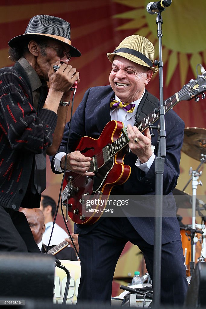 Singer/Musician Deacon John performs at Fair Grounds Race Course on April 30, 2016 in New Orleans, Louisiana.