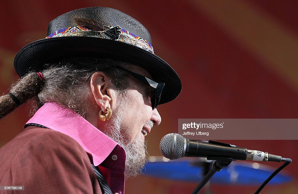 Singer/Musician Dr. John peforms at Fair Grounds Race Course on April 30, 2016 in New Orleans, Louisiana.