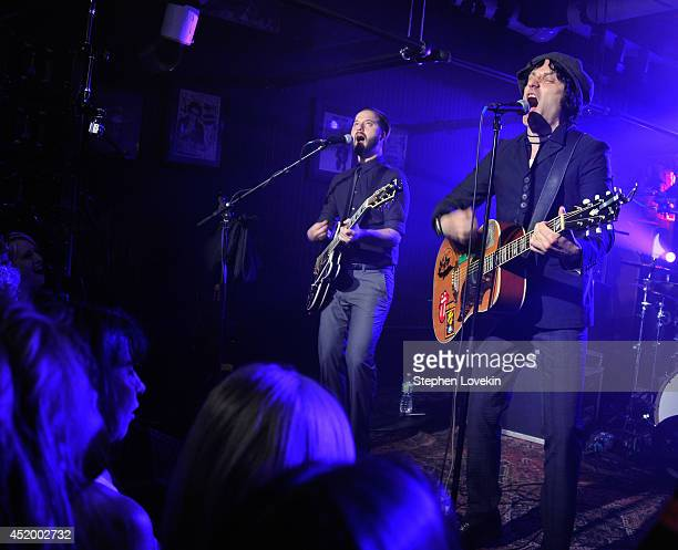 Singer/musician Jesse Malin performs as part of John Varvatos Bowery Live at John Varvatos 315 Bowery Boutique on July 10 2014 in New York City