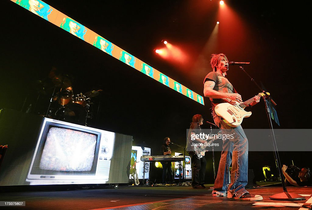 Singer/musician John Rzeznik of Goo Goo Dolls performs at Sprint Center on July 12, 2013 in Kansas City, Missouri.