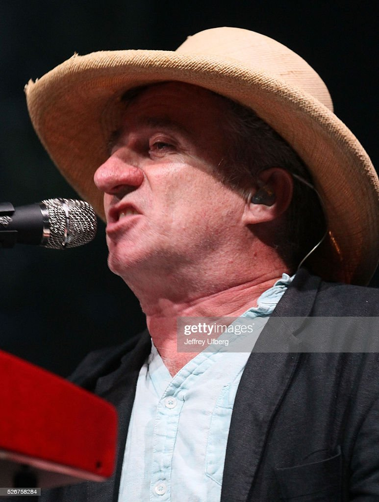 Singer/Musician Jon Cleary performs at Fair Grounds Race Course on April 30, 2016 in New Orleans, Louisiana.