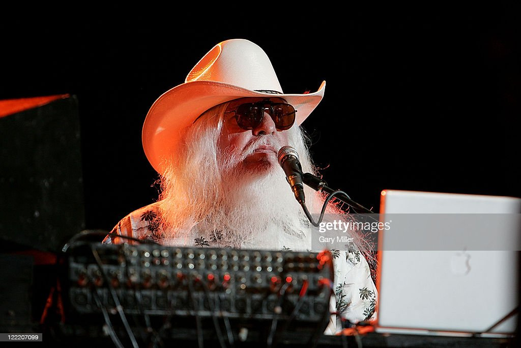 Singer/musician Leon Russell performs to a sold out crowd during Willie Nelson's 4th of July Picnic at The Backyard on July 4, 2010 in Austin, Texas.