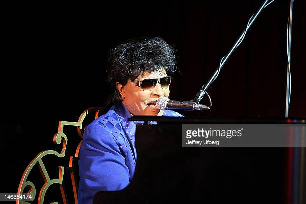 Singer/Musician Little Richard performs at BB King Blues Club Grill on June 14 2012 in New York City