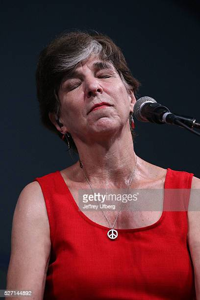 Singer/Musician Marcia Ball performs at Fair Grounds Race Course on May 1 2016 in New Orleans Louisiana