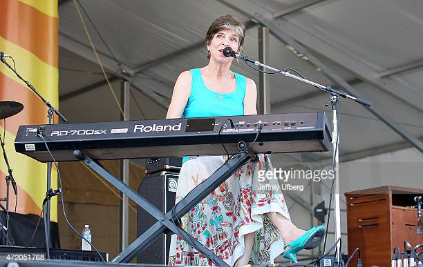 Singer/Musician Marcia Ball performs at New Orleans Jazz Heritage Festival at Fair Grounds Race Course on May 2 2015 in New Orleans Louisiana