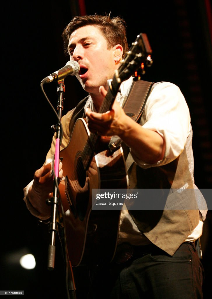 Singer/musician Marcus Mumford of Mumford & Sons performs at the 2011 Buzz Under The Stars concert at City Market on June 3, 2011 in Kansas City, Missouri.