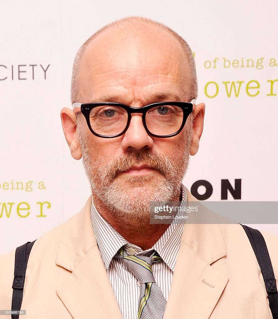 Singer/musician Michael Stipe attends The Cinema Society special screening of 'The Perks Of Being A Wall Flower' on September 13, 2012 in New York City.