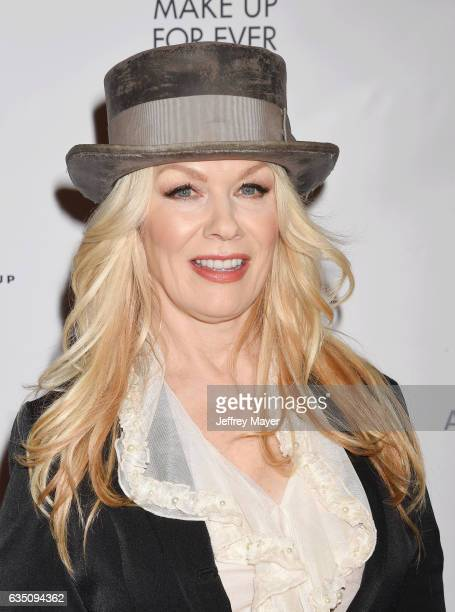 Singermusician Nancy Wilson arrives at the Universal Music Group's 2017 GRAMMY After Party at The Theatre at Ace Hotel on February 12 2017 in Los...
