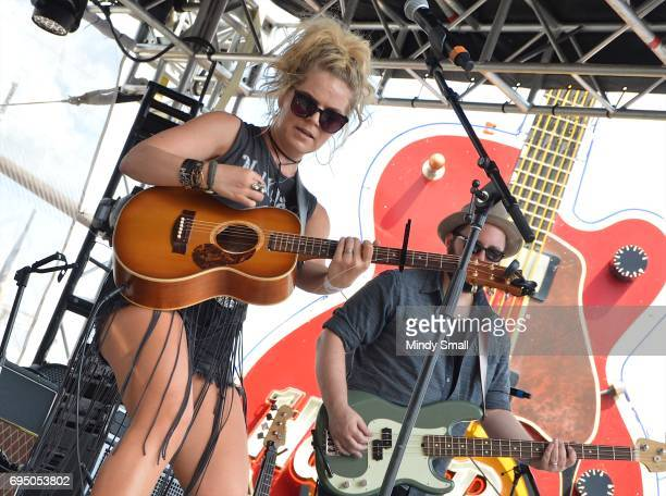 Singer/musician Natalie Stovall performs at the Gildan Broadway Stage at Hard Rock Cafe during day 4 of the 2017 CMA Music Festival on June 11 2017...