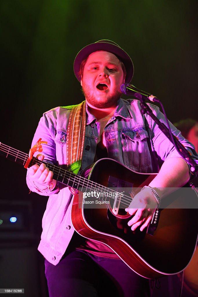 Singer/musician Ragnar 'Raggi' Þórhallsson performs during The Night The Buzz Stole Christmas at The Midland by AMC on December 15, 2012 in Kansas City, Missouri.