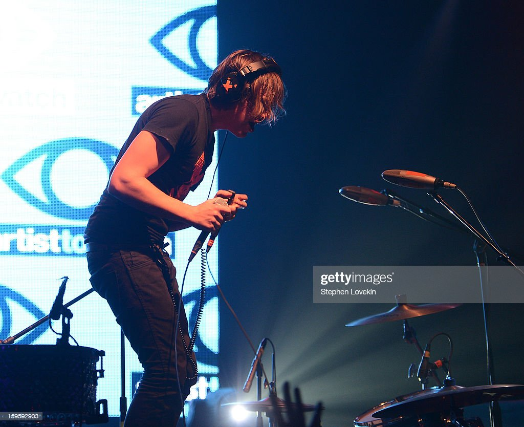 Singer/musician Robert Delong performs at MTV's 2013 'Artists To Watch' Concert at Highline Ballroom on January 16, 2013 in New York City.
