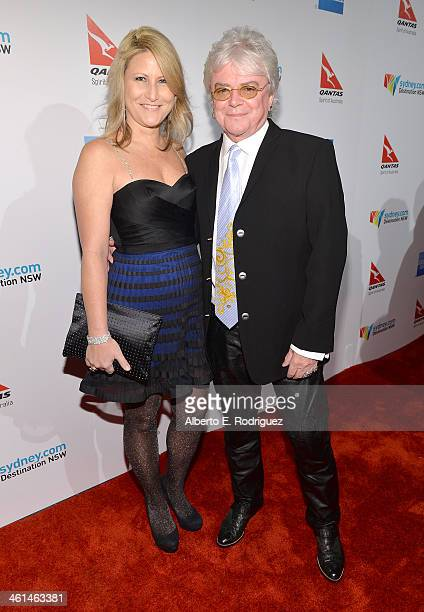 Singer/Musician Russell Hitchcock and Deanna Bracey attend the Qantas Spirit Of Australia Party on January 8 2014 in Beverly Hills California