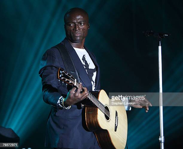 Singer/musician Seal performs at The Hard Rock NY 4th Annual Musicians On Call Benefit January 29 2008 in New York City