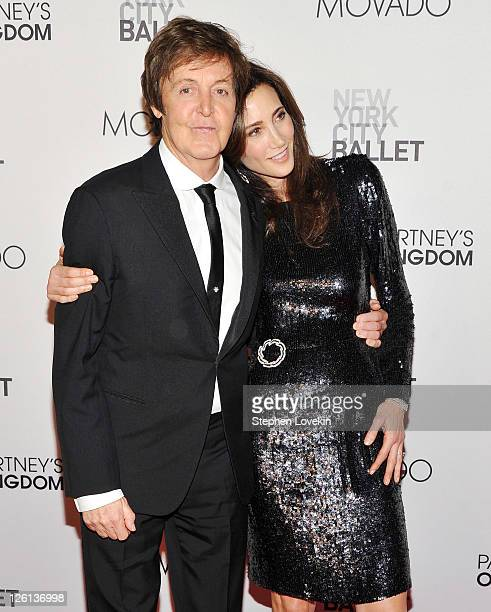 Singer/musician Sir Paul McCartney and Nancy Shevell attend the 2011 New York City Ballet Fall Gala at the David Koch Theatre at Lincoln Center on...