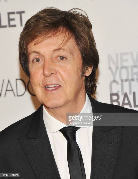 Singer/musician Sir Paul McCartney attends the 2011 New York City Ballet Fall Gala at the David Koch Theatre at Lincoln Center on September 22 2011...