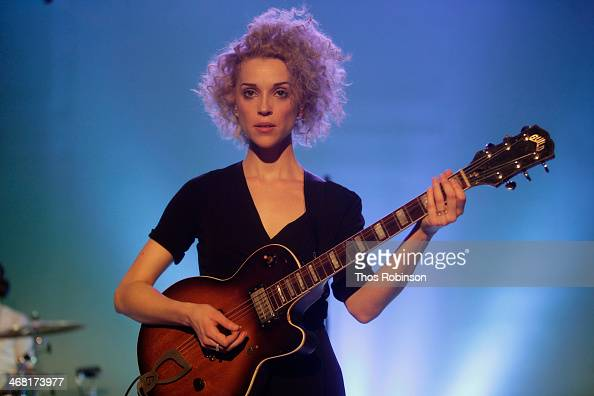 Singer/musician St Vincent performs at the American Express UNSTAGED Fashion with DVF at Spring Studios on February 9 2014 in New York City