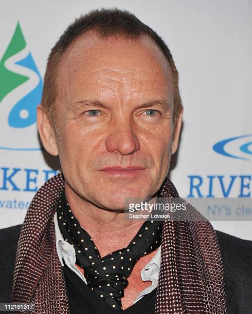 Singer/musician Sting attends the 2011 Riverkeeper Fishermen's Ball at Pier Sixty at Chelsea Piers on April 13 2011 in New York City