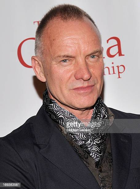 Singer/musician Sting attends The 2013 Frederic E Church Award Gala at New York Public Library on May 23 2013 in New York City